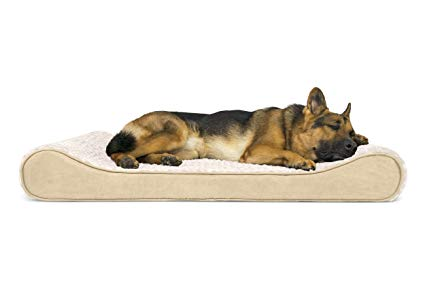 FurHaven Pet Dog Bed | Orthopedic Microvelvet Luxe Lounger Pet Bed for Dogs & Cats