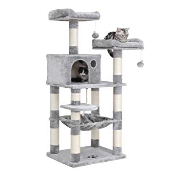 Multi-Level Cat Tree with Sisal-Covered Scratching Posts