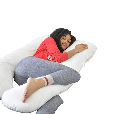 Doze LLC. Full Body Maternity Pillow with Removable Cover