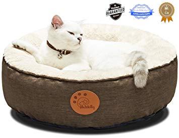Fluffy Round Indoor Cat Bed Waterproof