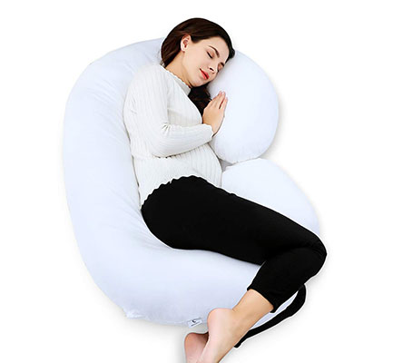 Marine Moon C Shaped Pregnancy Pillow, Cotton Cover