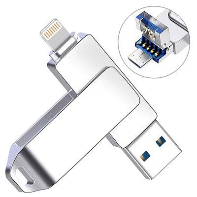 UPSTONE 128GB USB 3.0 Flash Drive Memory Stick high Speed Thumb Drive USB Memory Stick Waterproof Black128GB