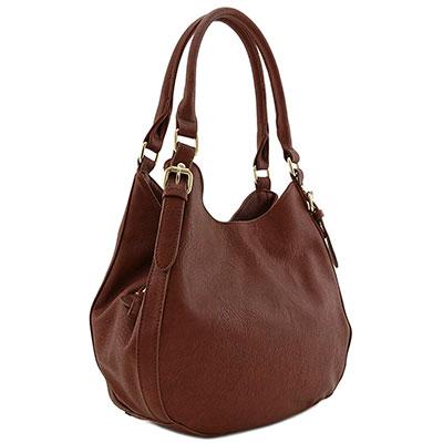FashionPuzzle Light-weight Faux Leather Handbag