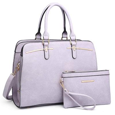 Dasein Women Satchel Handbags with Matching Wallet