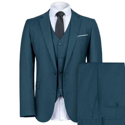 WEEN CHARM Men's Slim Fit Suit One Button suit