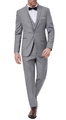 PAUL JONES Men's Slim Fit Suit