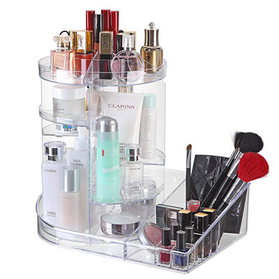 Ogrmar Adjustable 360 Degree Rotating Makeup Organizer