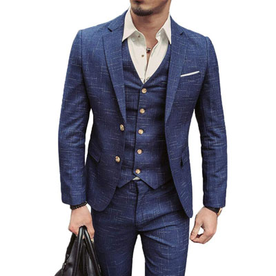 NSBS Men's 3 Piece Classic Vintage Suit