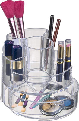 Decozen Cylindrical Makeup Organizer and Storage