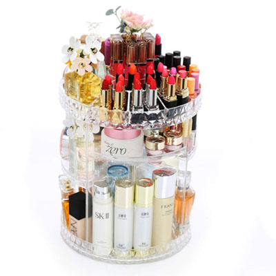 RoLeDo 360 Rotating Makeup Organizer, Adjustable Multi-Function