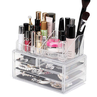 RoLeDo Cosmetic Makeup Holder Jewelry, Accessories Storage Case Display