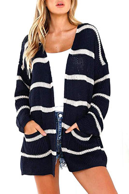Befily Women's Boho Open Front Long Cardigan Sweater