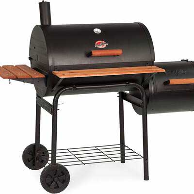 5. Char-Griller E1224 Side Fire Box Charcoal Smoker Pro 830 Square Inch Grill (Black)