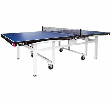 #1. Butterfly Indoor Scratch-Proof Top Strong Frame Professional Centrefold25 Table Tennis Table