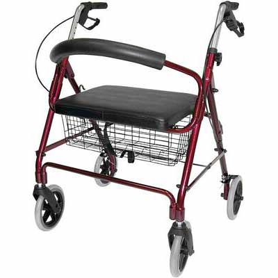 7. Duro-Med DMI Rollator Walker with Seat