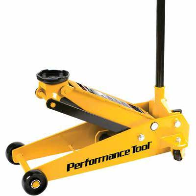 6. Performance Tool W1617 3 Tons Extra-Long Frame Construction Capacity Garage, Jack