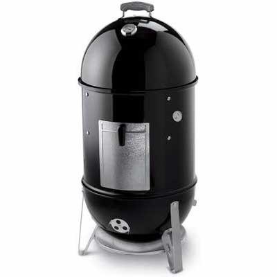 7. Weber 18Inch Water Pan Smokey Mountain Charcoal Thermometer & Handle Smoker