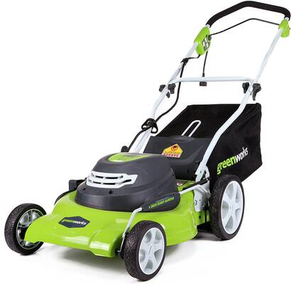 7. Greenworks Electric Corded Lawn Mower