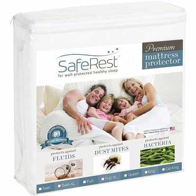 5. SafeRest Premium Hypoallergenic Queen Size Waterproof Mattress Protector