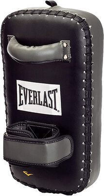 9. Everlast Professional-Grade Thai Fighting Design Multi-Layered Punch Mitts (Black)