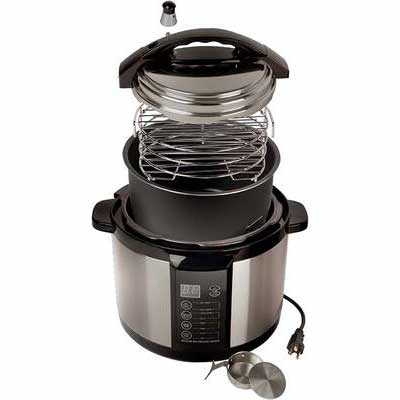 6. Emson Easy to Clean Safe for Indoor Use Sears Indoor Pressure Smoker (Silver)