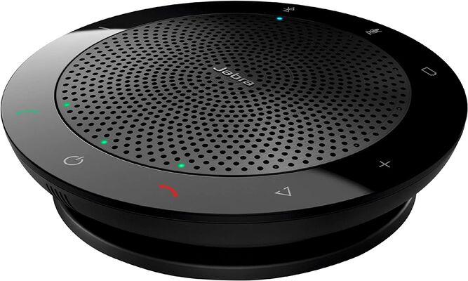2. JABRA Easy Setup Portable Speak 510 Bluetooth Speaker for Mobile Phone & Softphone