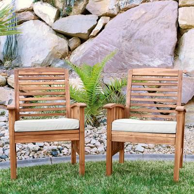 3. Walker Edison Furniture Set (Set of 2) - Brown