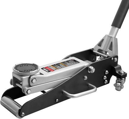 9. TORIN 1.5 Ton Capacity TAM815016L Steel Racing & Hydraulic Low Profile Floor Jack (Black)