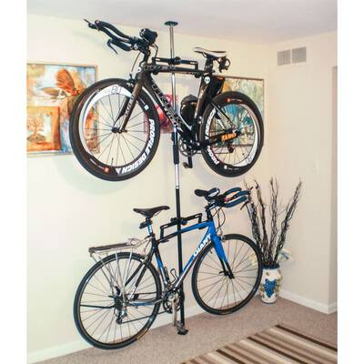 #3. Rage Powersports Apex Bike Hanger Rack for 2 Bikes