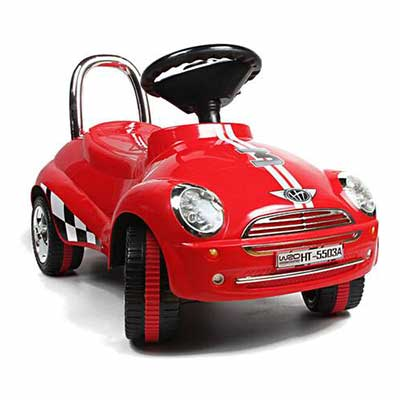 10. Amazing Tech Depot Red Ride-on Gliding Scooter Car Toy with Light and Sound