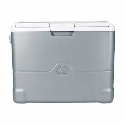 6. IGLOO Iceless 00040374 Adjustable Food Shelf 40Qt Thermoelectric Portable Freezer (Grey)