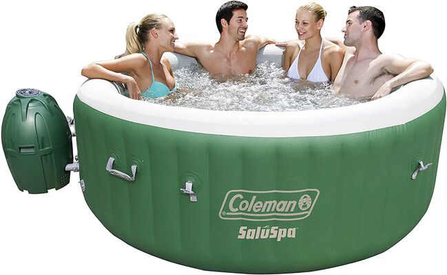 1. BESTWAY Green & White Leather Pool Cover Coleman Inflatable SaluSpa Portable SPA Bathtub