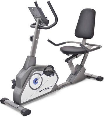 9. Marcy Grey Magnetic Recumbent Cross Trainer Machine