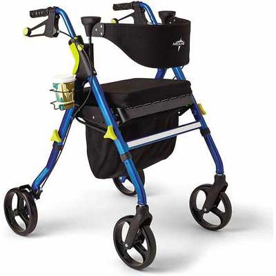 8. Medline Premium Empower Rollator Walker with Seat
