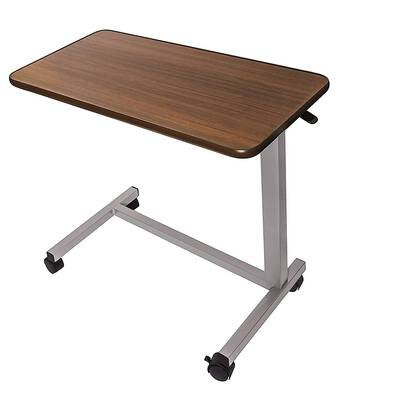 #4. Vaunn Medical Adjustable Height Over Bed Bedside Table with Wheels for Hospital & Home Use
