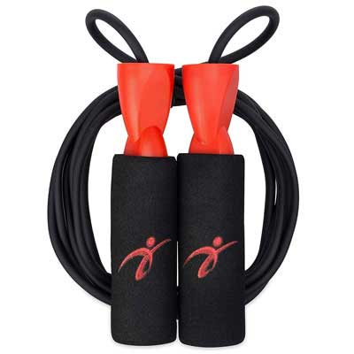 #4. Fitness Factor Cardio with Carrying Pouch Adjustable Jump Rope All Heights & Skills Levels