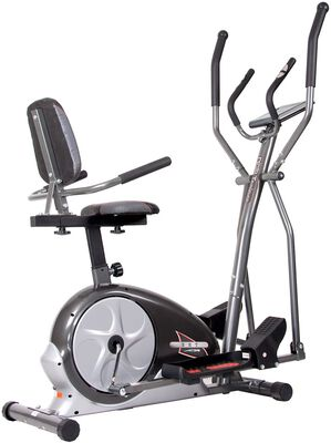 8. Body Champ 3 in 1 Durable Cross Trainer Machine with Magnetic Adjustable Resistance