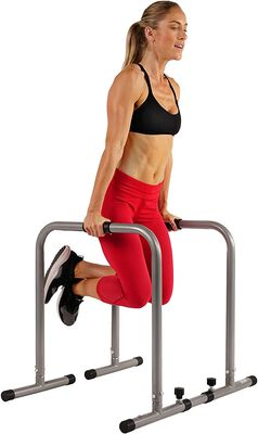 10. Sunny Health & Fitness Dip Bar Training Station with Adjustable Length and Parallel Bars