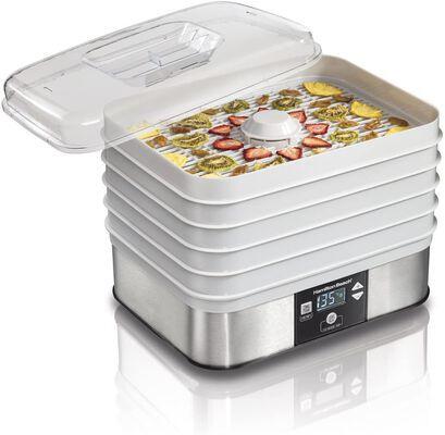 9. HAMILTON Beach 5 Tray Grey 32100A 48 Hours Timer Adjustable Thermostat Food Dehydrator