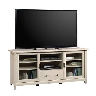 #4. Sauder Edge for Up to 55'' TV Weighing 95lbs Chalked Chestnut Finish Credenza Sideboard Table