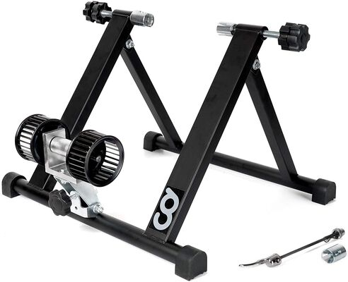 9. CyclingDeal Stationary Indoor Cycling Bike Trainer Stand with Front Block Riser