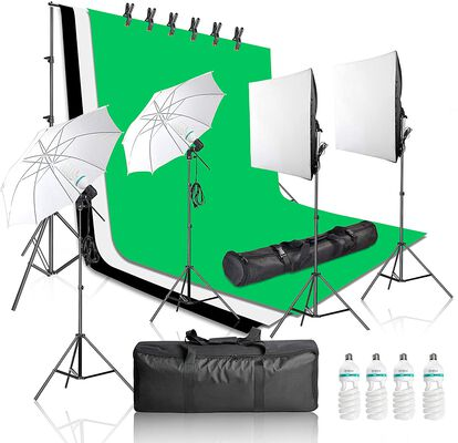 4. Emart 2000W Studio Lighting Kit, 3 Muslin Backdrops