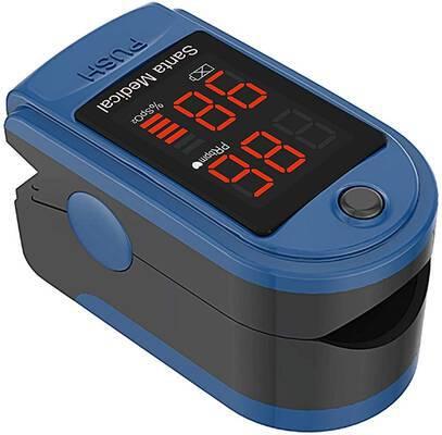 #10. Santamedical Portable Pulse Oximeter Latex-Free Blood Oxygen Heart Rate Monitor - SM-150