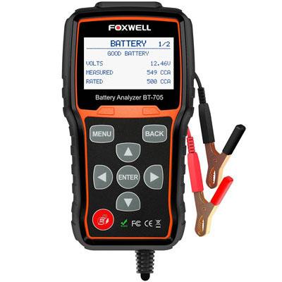 #2. FOXWELL BT705 Battery Tester