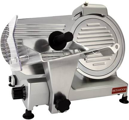 2. BESTWOOD BESWOOD250 240W 10 Inch Premium Chrome Plated Carbon Steel Blade Food Slicer