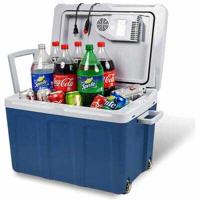 4. Knox Gear.Lifestyle 48Qt Holds 60 Cans 6 Two Liter Bottles Electric Cooler & Warmer for Car