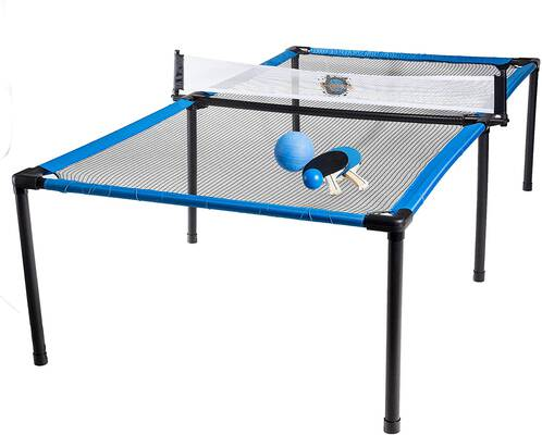 #9. Franklin Sports Indoor Outdoor SypderPong Table Tennis Volleyball & 4 Square Game