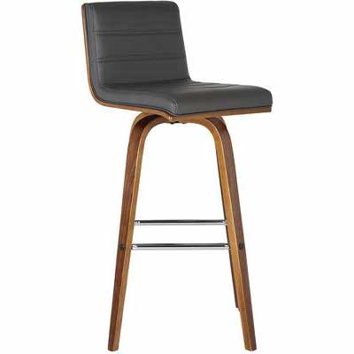4. Armen Living More Color/Size Option 26Inch Grey & Walnut Vienna Bar Height Barstool Kitchen