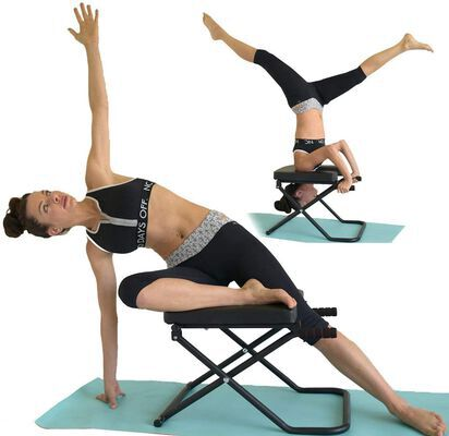 1. Sisyama Longer Well Cushioned Inversion Yoga Headstand Bench for Deeper Stretch