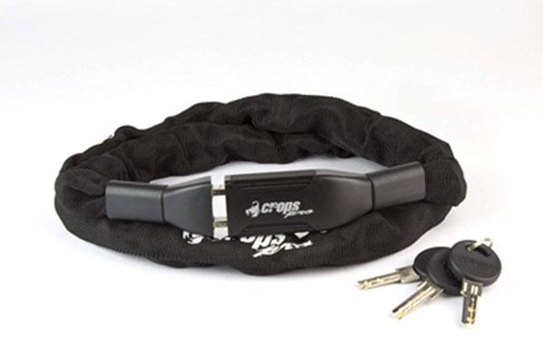2. CROPS Rydeen Bike Chain Lock - Hardened Metal